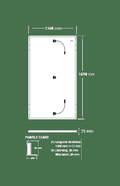 Dimensions du panneau solaire Sunpower Performance 3 375 w