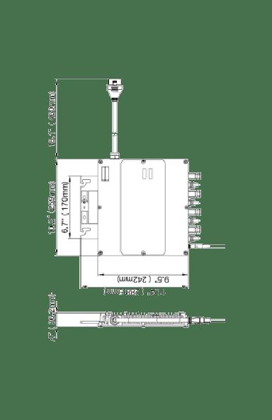 dimensons du micro-onduleur  APSystems YC1000-3