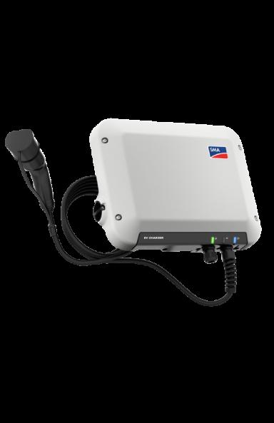 SMA 1PH EV Charger 22 kW vue latérale avec câble